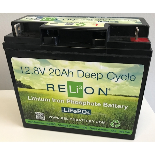 RELiON RB20 C Lithium Ionen Akku Batterie Deep Cycle 20 Ah