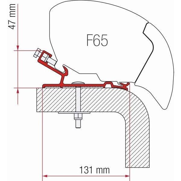 Adapter FIAMMA Hymer 490 cm für F65