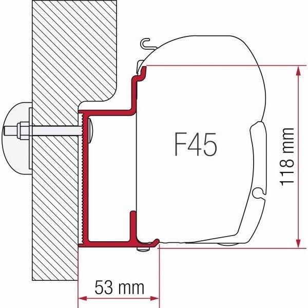 Adapter FIAMMA Eura Mobil Karmann 350 cm für F45 F70 ZIP