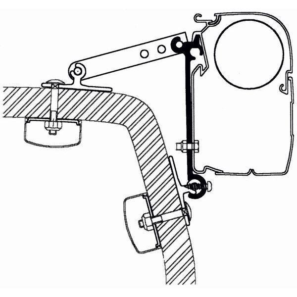 Adapter THULE Omnistor Universal Set für Wandmontage