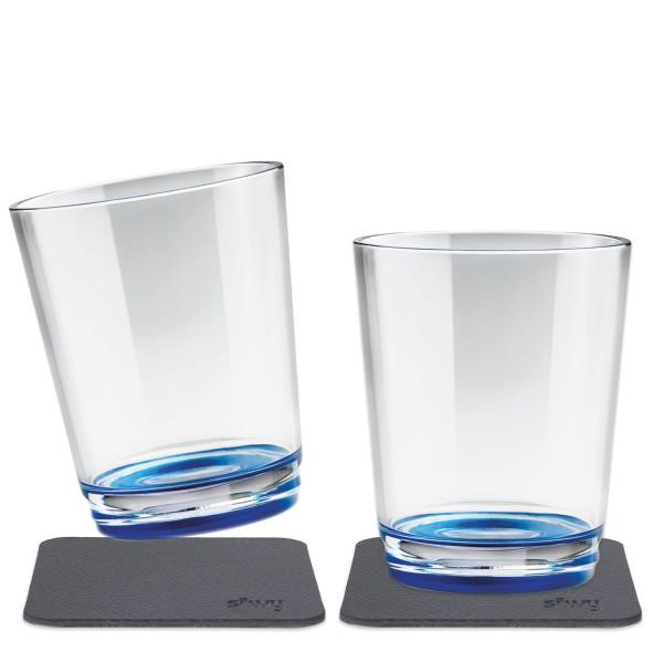 Glas SILWY Lui blue 2er Set
