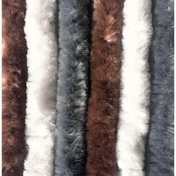 Türvorhang ARISOL Chenille Flauschvorhang 70x205 cm braun-weiß-grau