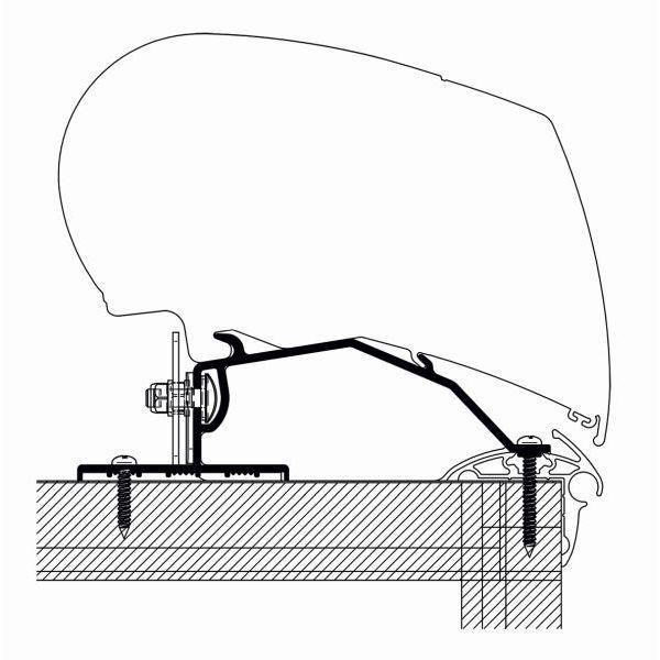 Adapter THULE OMNISTOR Caravan Roof 375 cm für Dachmontage