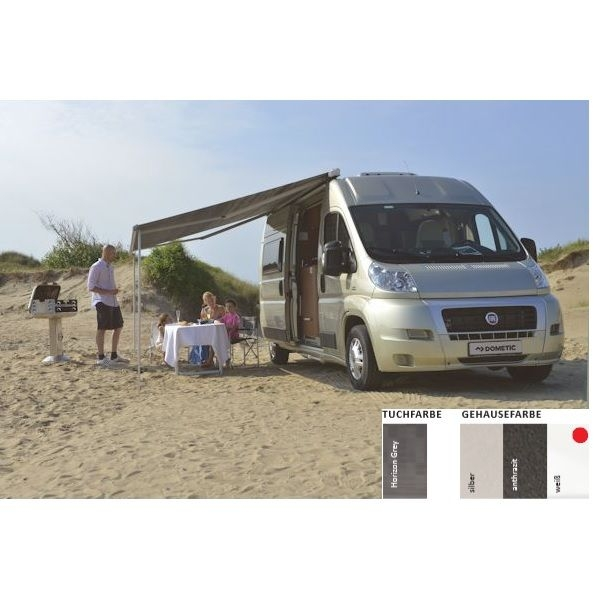 Markise DOMETIC Perfect Roof 2000 Horizon grey Fiat Ducato 375 cm Gehäuse weiß