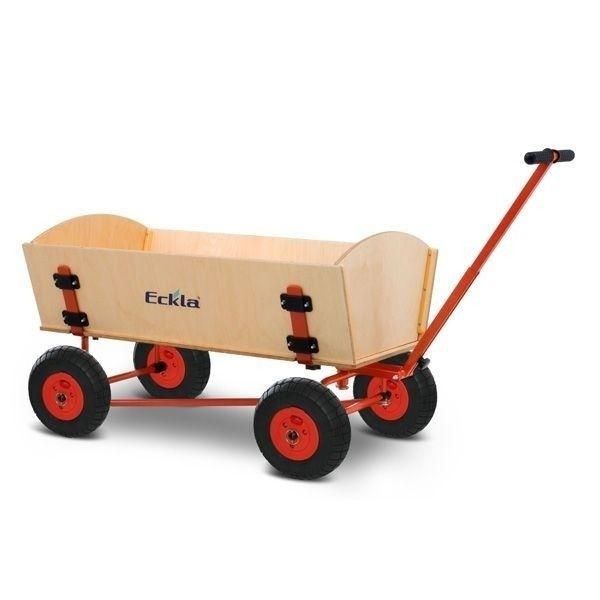 ECKLA Bollerwagen 77906 Trak Long Fun Trailer 100 Rollenlager HAL PS-Reifen