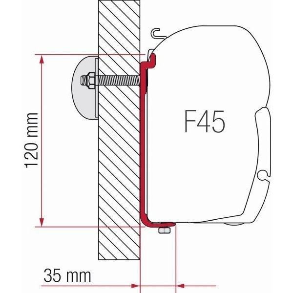 Adapter FIAMMA AS 350 für F45 F70 ZIP