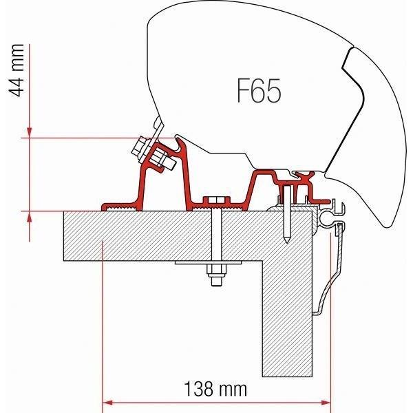 Adapter FIAMMA Kit Hobby Caravan ab Modelljahr 2009 für F80 F65