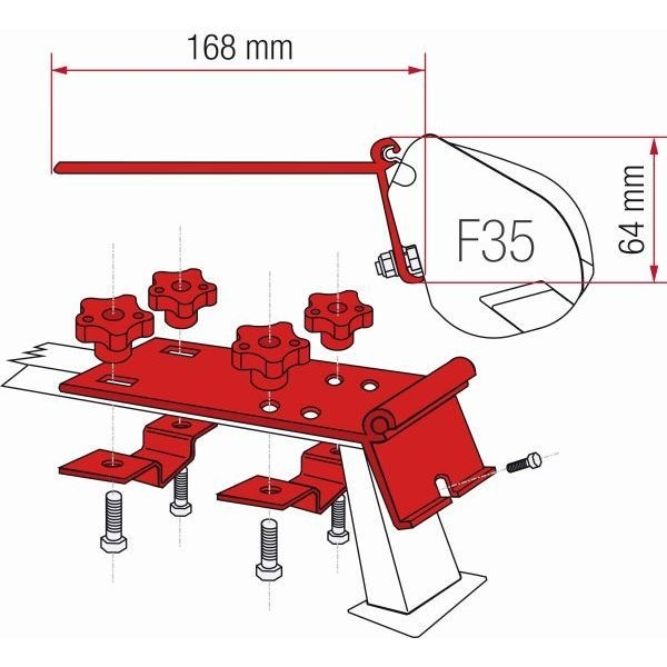 Adapter FIAMMA Kit Standard für F35