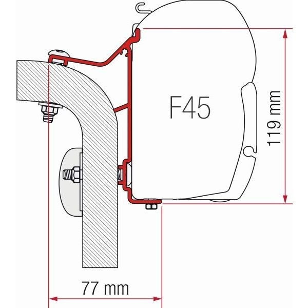 Adapter FIAMMA Hymer Van B2 350 cm für F45 F70 ZIP