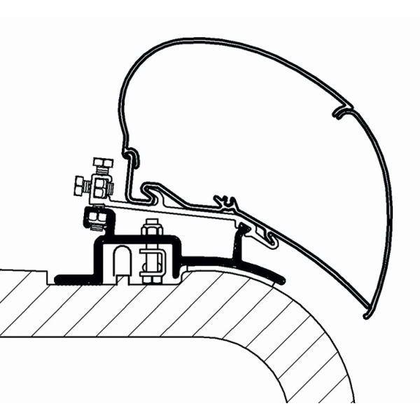 Adapter THULE OMNISTOR Fiat Ducato ab Modelljahr 1994 bis Modelljahr 2006 für Dachmontage