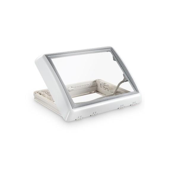 Dachfenster DOMETIC Midi Heki Style Bügel Dachhaube weiß mit Zwangsbelüftung