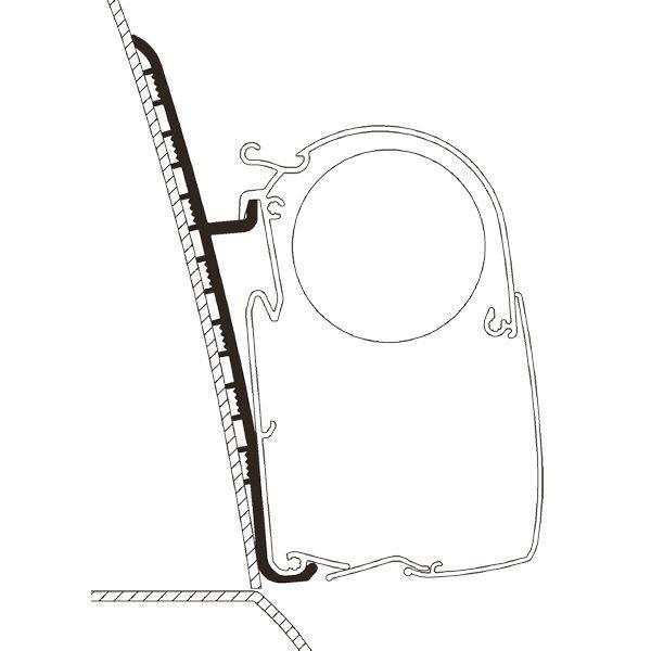 Adapter THULE Omnistor Renault Master Hochdach H3 Set für Wandmontage