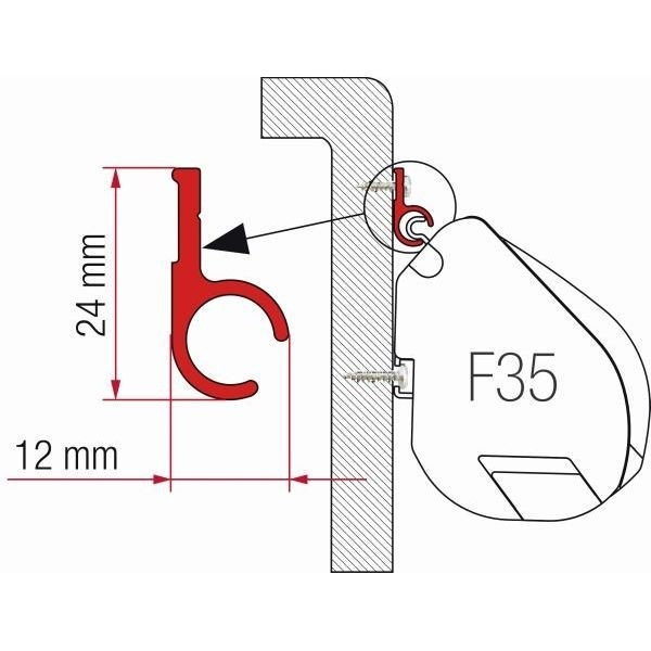 Adapter FIAMMA Rail 300 für F35