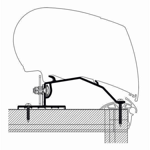 Adapter THULE OMNISTOR Caravan Roof 600 cm für Dachmontage