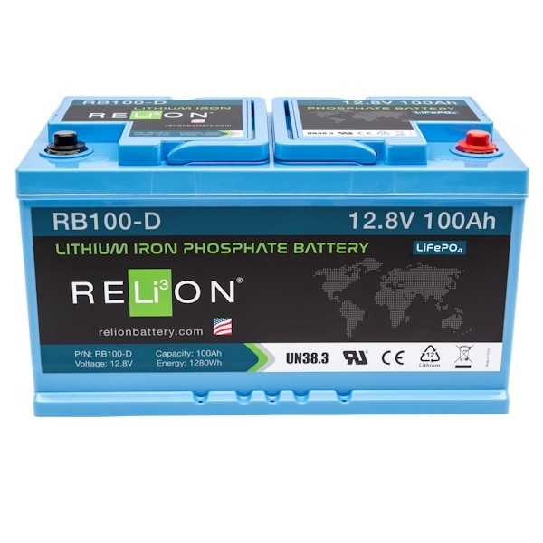 RELiON RB100 D Lithium Ionen Akku Batterie Deep Cycle 100 Ah