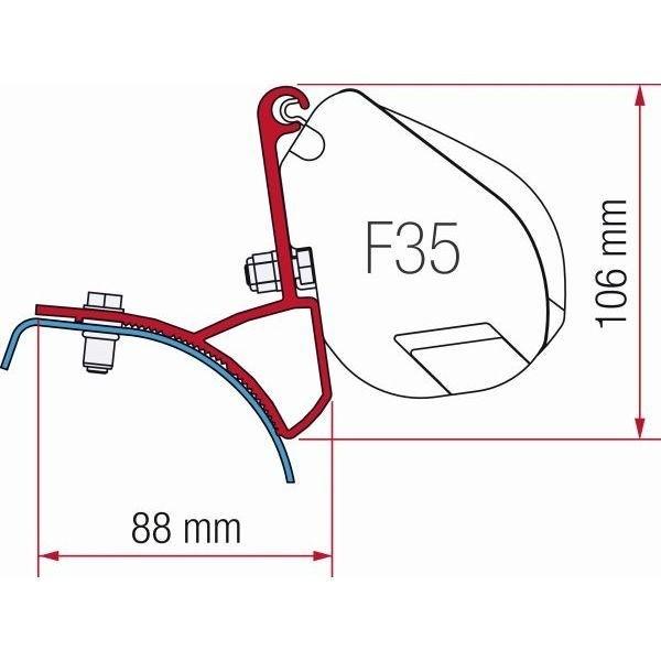 Adapter Kit FIAMMA Renault Trafic Opel Vivaro für F35