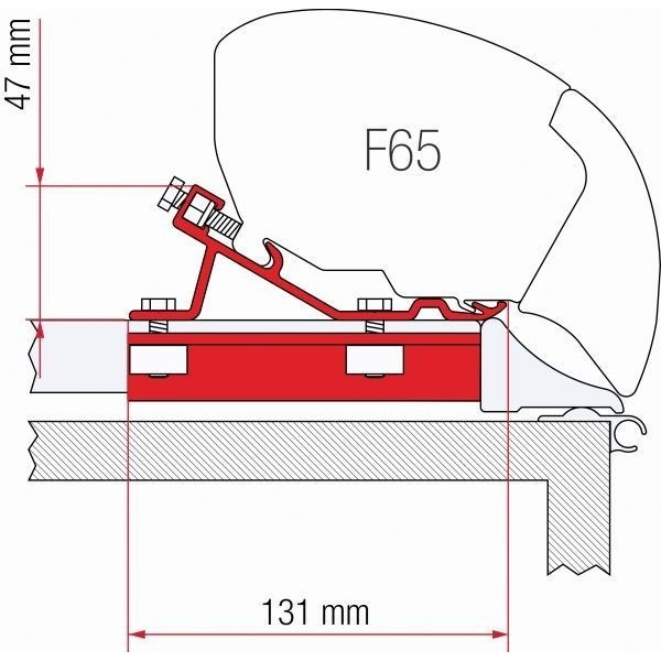 Adapter FIAMMA Kit Fixing Bar für F80 F65