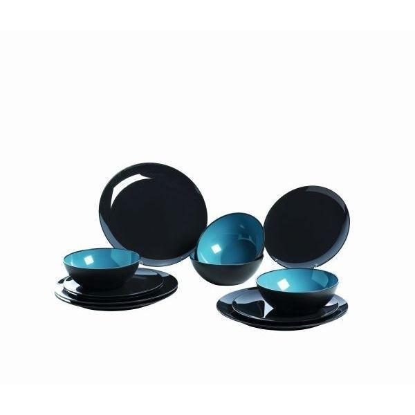 Melamin Set GIMEX grau blau