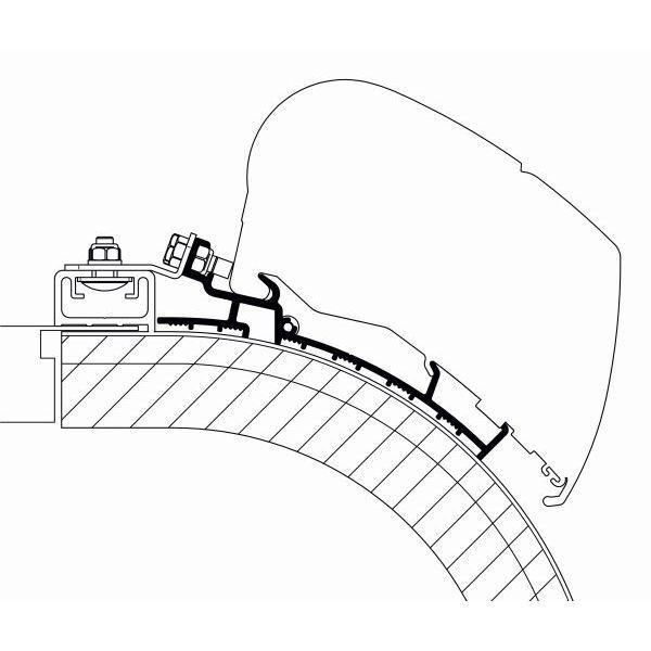 Adapter THULE OMNISTOR Rapido Distinction 450 cm für Dachmontage