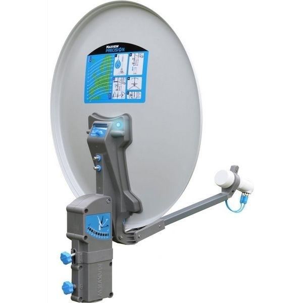 Sat Antenne MAXVIEW Precision 65 cm Alu Spiegel mit Sat ID Twin LNB