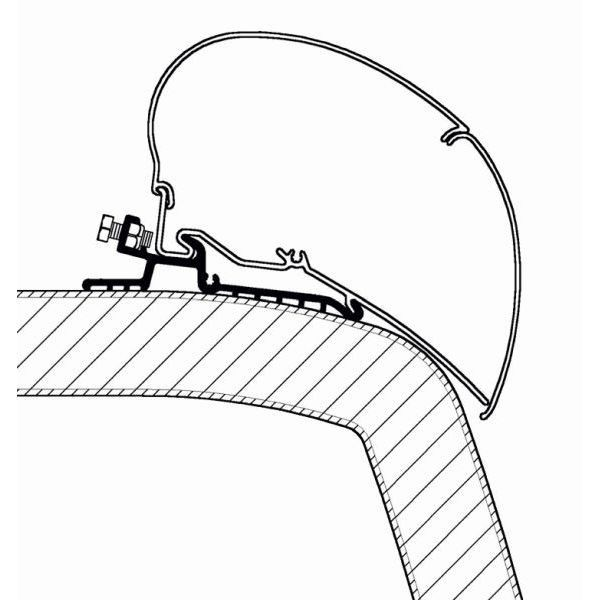 Adapter THULE Omnistor Hymer SX 500 cm für Dachmontage