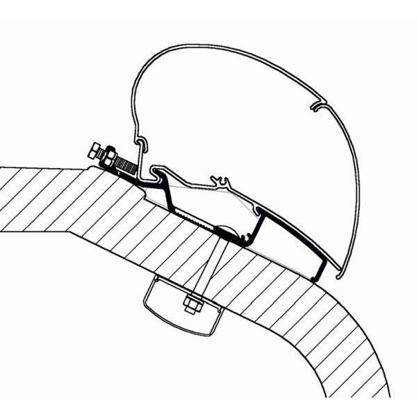 Adapter THULE Omnistor LMC Liberty TEC 450 cm für Dachmontage