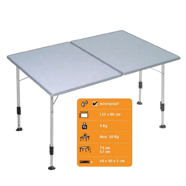 Campingtisch DUKDALF Majestic Twin Tisch 120 x 80 cm