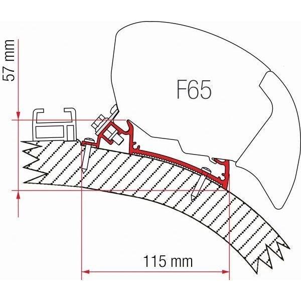 Adapter FIAMMA Carthago Chic 450 für F65