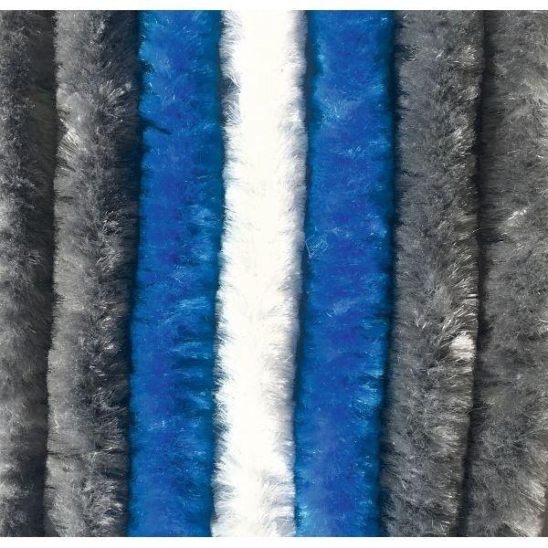 Türvorhang ARISOL Chenille Flauschvorhang 100x200 cm grau-blau-weiß