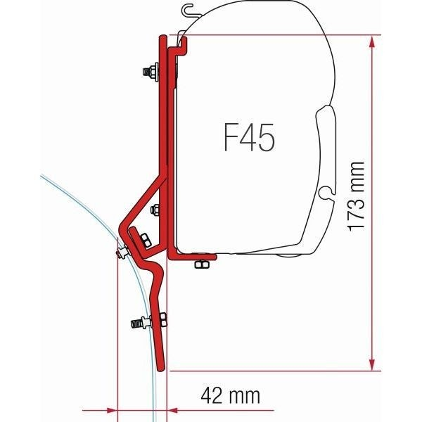 Adapter FIAMMA Kit Fiat Ducato > Bj. 1994 für F45 F70 ZIP