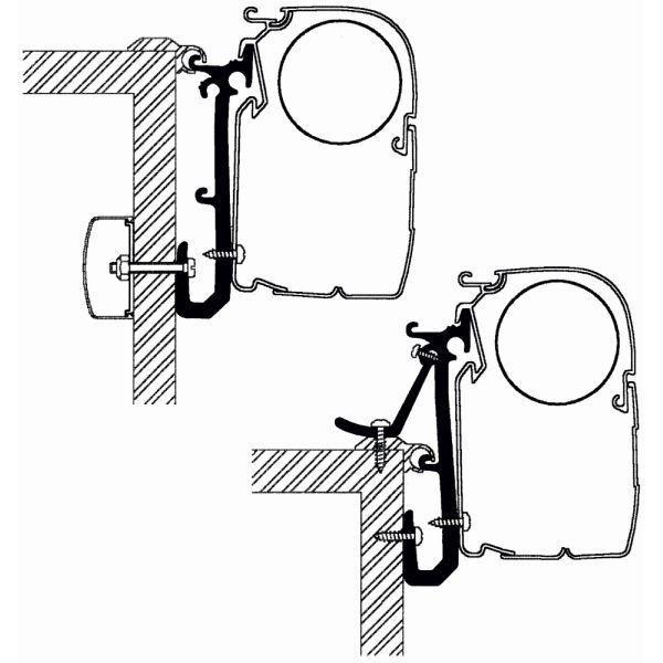 Adapter THULE OMNISTOR Caravan Set für Wandmontage
