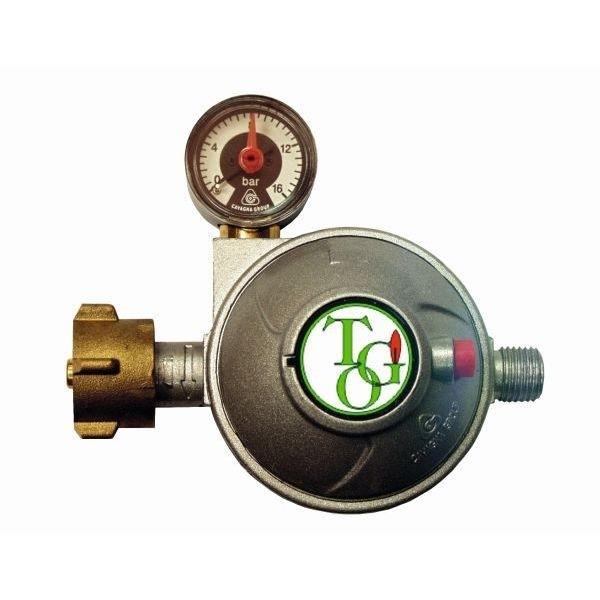 Gasdruckregler TGO 50 mbar Sicherheits Abblaseventil mit Manometer