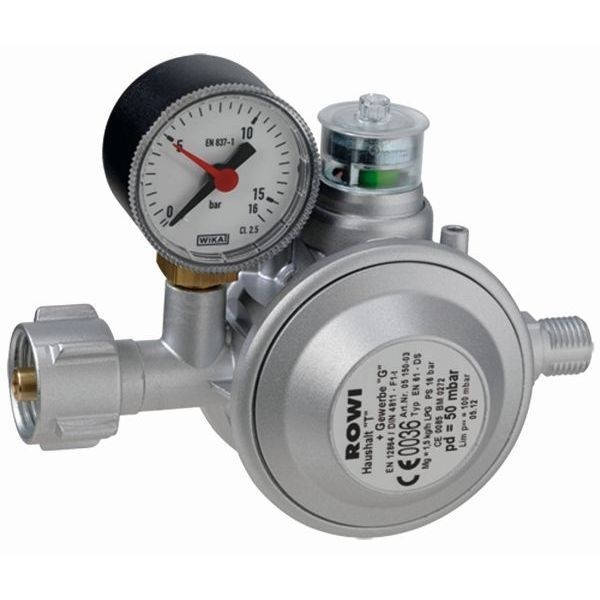 Druckminderer Gas ROWI Indoor Gasregler 50 mbr