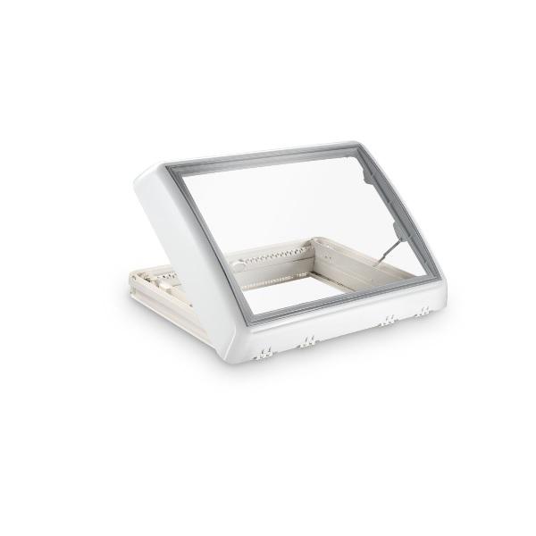 Dachfenster DOMETIC Midi Heki Style Kurbel Dachhaube weiß mit Zwangsbelüftung