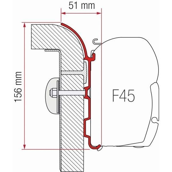 Adapter FIAMMA Kit Bürstner für F45 F70 ZIP