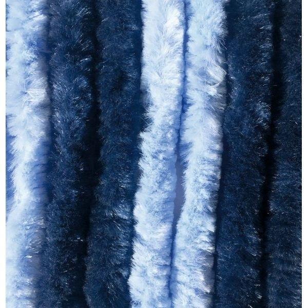 Türvorhang ARISOL Chenille Flauschvorhang 70 x 205 cm hblau-dblau