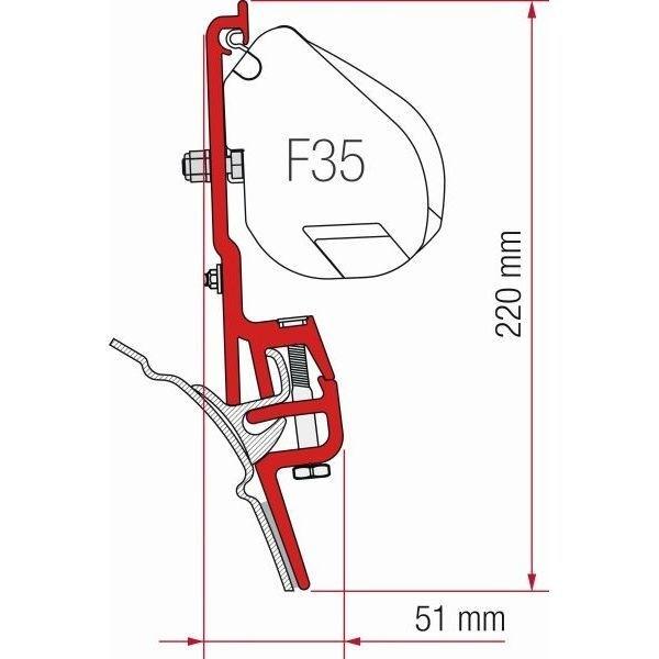 Adapter Kit FIAMMA VW T4 Brandrup für F35 F45