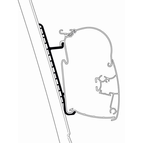 Adapter THULE OMNISTOR Fiat Ducato H3 für Wandmontage