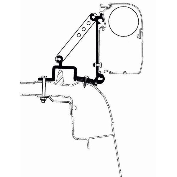 Adapter THULE OMNISTOR Renault Master ab Modelljahr 1998 bis Modelljahr 2010 Set für Wandmontage