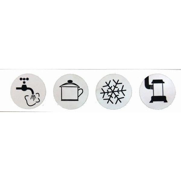 Symbol Aufkleber GOK für Ventilblock
