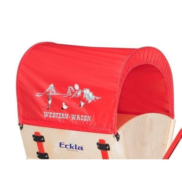 ECKLA Planendach 77824 rot Western Wagon für Bollerwagen 100 cm