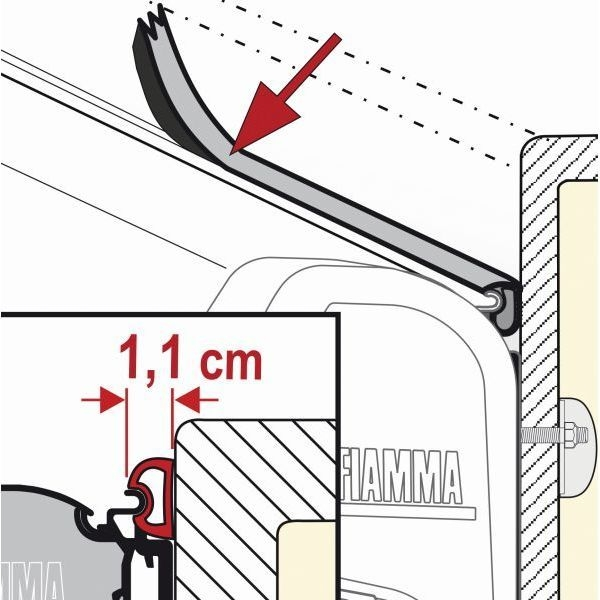 Abdichtgummi 1 Meter FIAMMA Rain Guard S