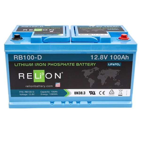 RELiON RB100 D Lithium Ionen Akku Batterie Deep Cycle 100 Ah