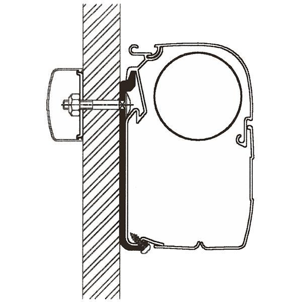 Adapter THULE Omnistor Flat 350 cm für Wandmontage