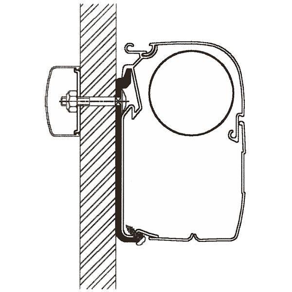 Adapter THULE Omnistor Flat 400 cm für Wandmontage