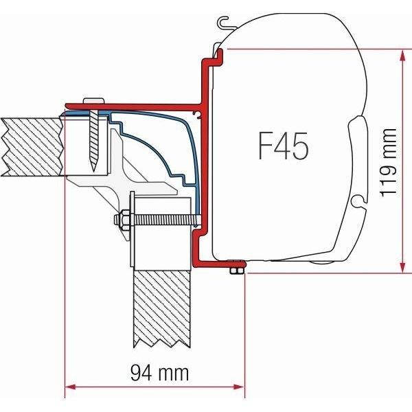 Adapter FIAMMA Kit Laika Ecovip Bürstner Hobby F45 F70 ZIP