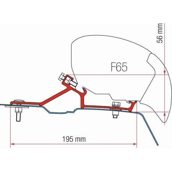 Adapter FIAMMA Kit Renault Master H2 > Bj. 2010 für F65